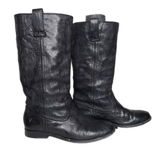 Frye Boots Anna Mid Pull On Black Size 7